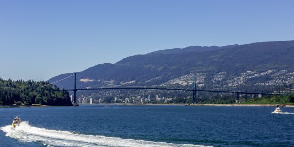 Lions Gate with boat