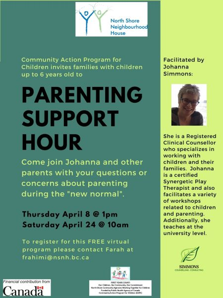 Parenting Support Hour with Johanna Simmons